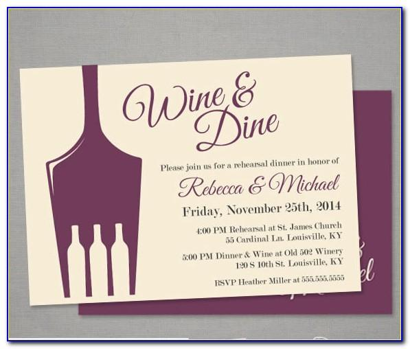 Wine Party Invitation Templates Free