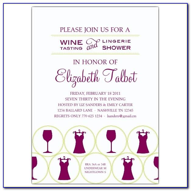 Wine Tasting Event Invitation Templates