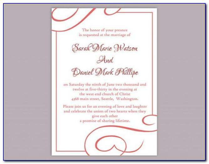 Wine Tasting Invitation Sample