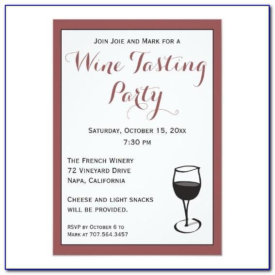 Wine Tasting Invitation Templates Free