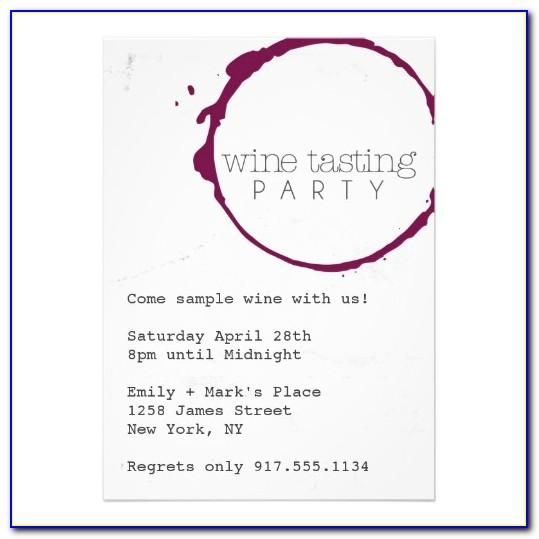 Wine Tasting Invitation Wording Samples