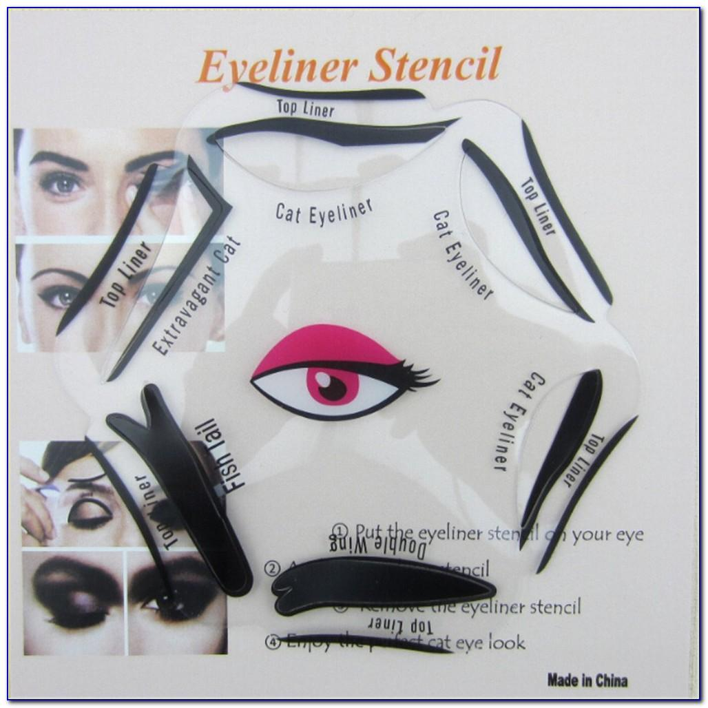 Winged Eyeliner Stencil Printable