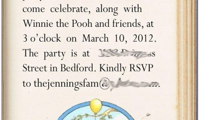 Winnie The Pooh First Birthday Invitation Wording