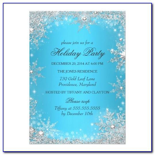 Winter Onederland Birthday Invitations Template