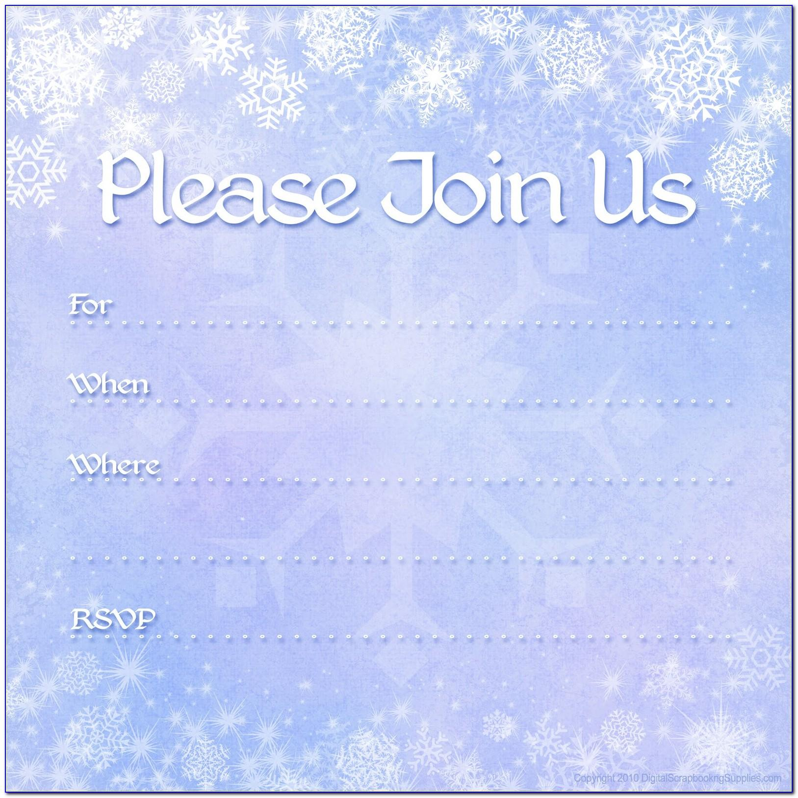 Winter Wonderland Baby Shower Invitations Templates
