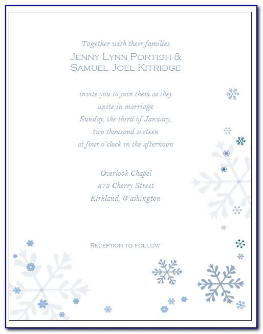 Winter Wonderland Birthday Invitations Templates