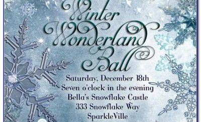 Winter Wonderland Invites Templates