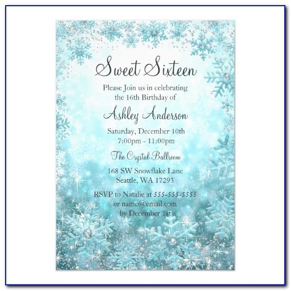 Winter Wonderland Wedding Invitation Templates