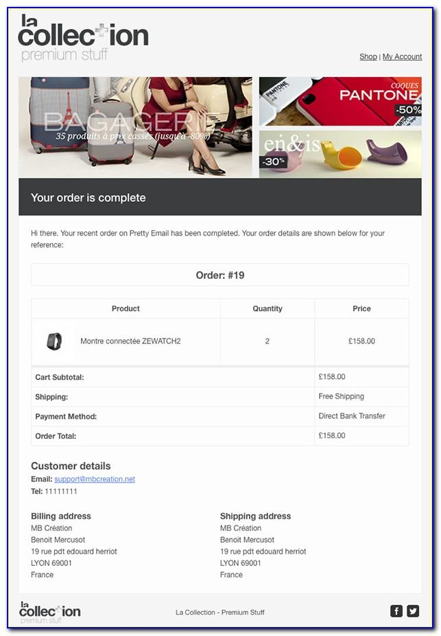 Woocommerce Add Custom Email Template