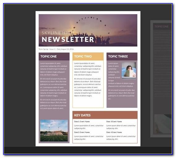 Word 2007 Newsletter Template Free