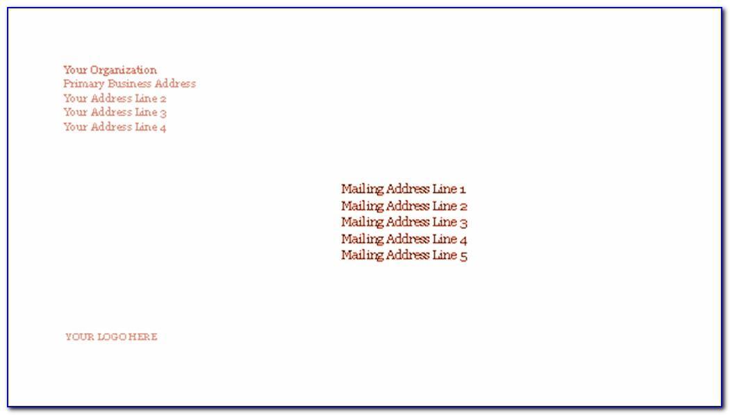 Word Custom Envelope Template