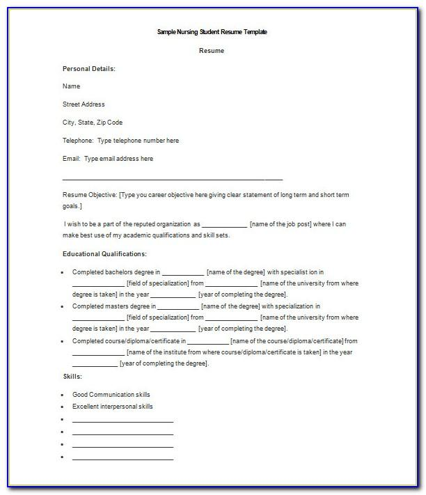 Word Document Resume Template Free Download