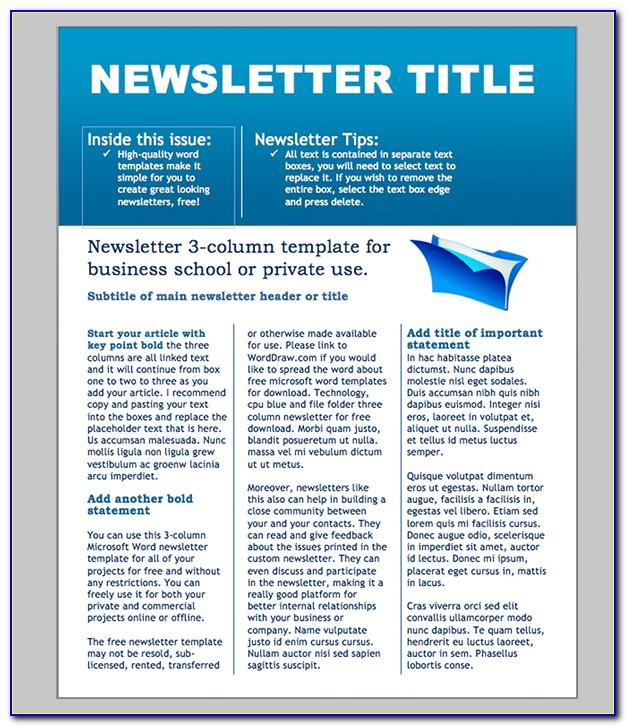 Word Email Newsletter Templates