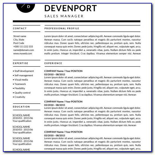 Word For Mac Resume Templates