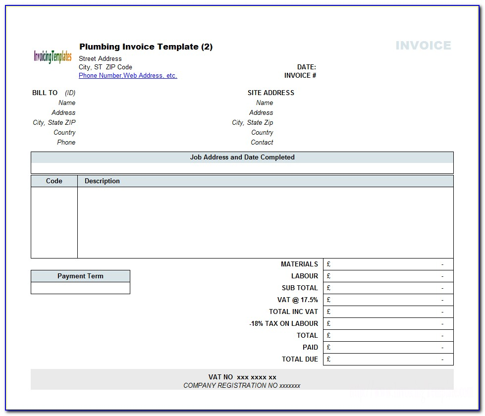 Word Invoice Template For Mac