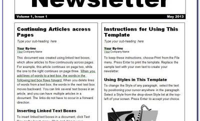 Word Newsletter Template 2007