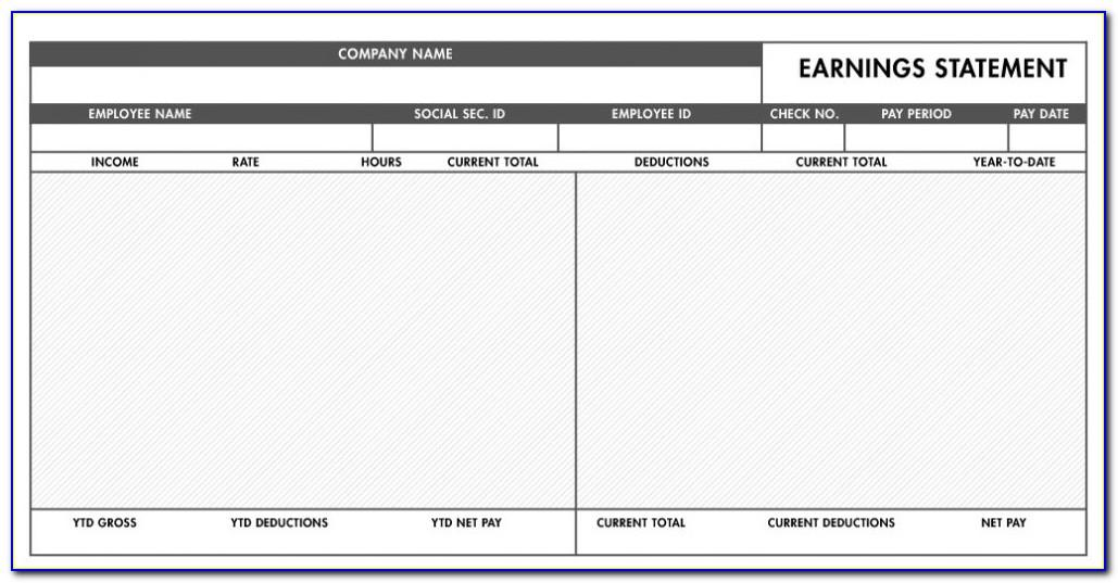 Word Paycheck Stub Template