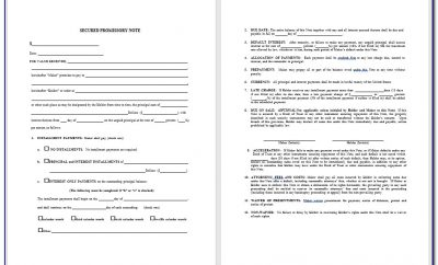 Word Promissory Note Template Download