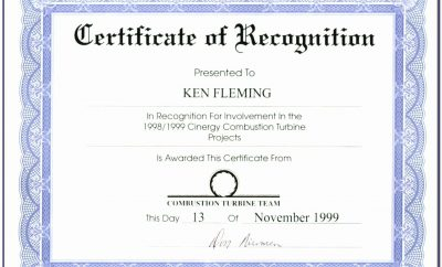 Word Template For Certificate Of Appreciation