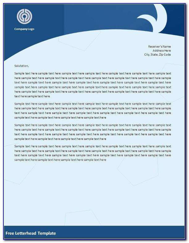 Word Template For Company Letterhead