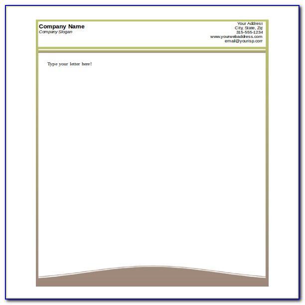 Word Templates Company Letterhead
