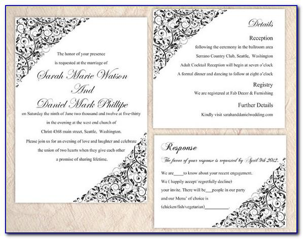Word Templates For Party Invitations