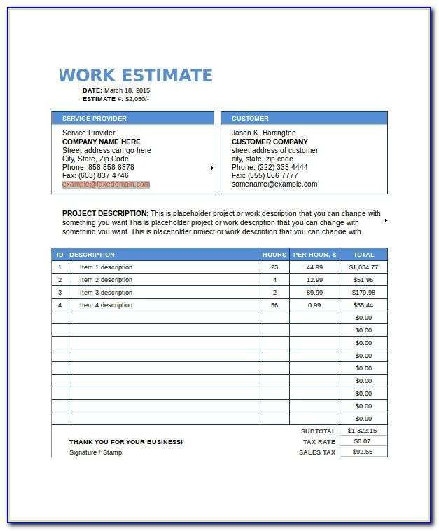 Work Contracts Templates Uk