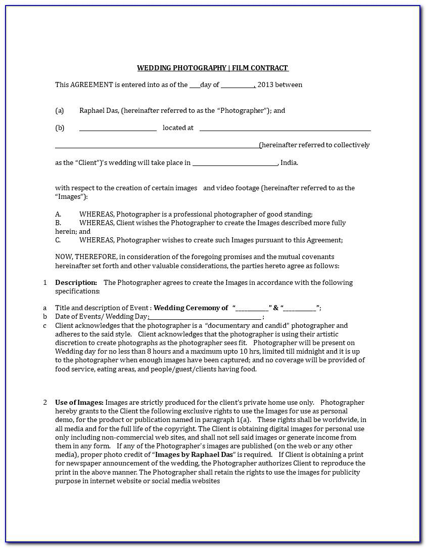 Work For Hire Contract Form