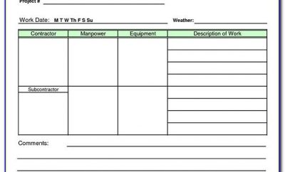 Work Plan Template Excel Free