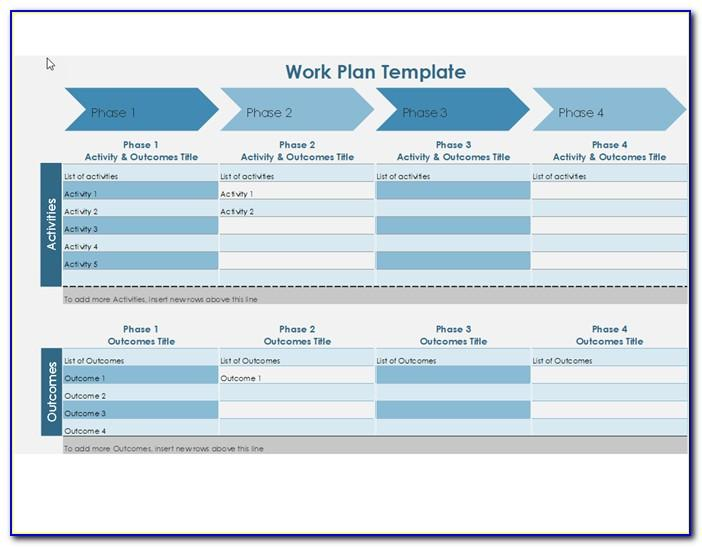 Work Plan Timeline Template Excel
