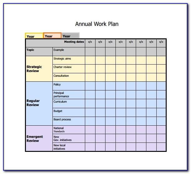 Work Planner Template Excel