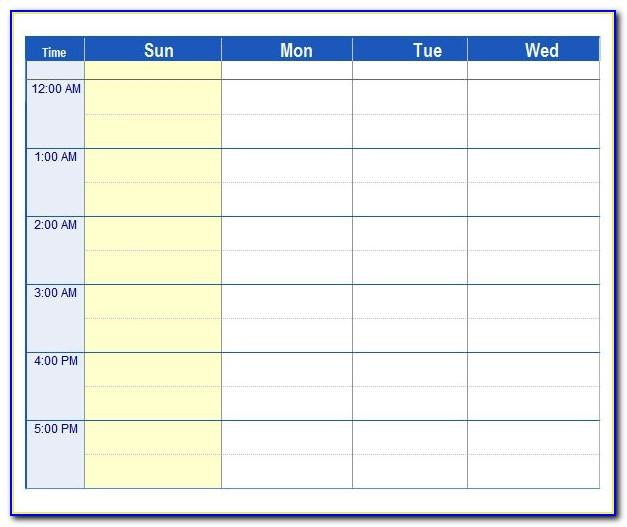 Work Planner Template Free Download