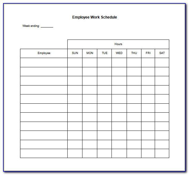 Work Schedule Template Download