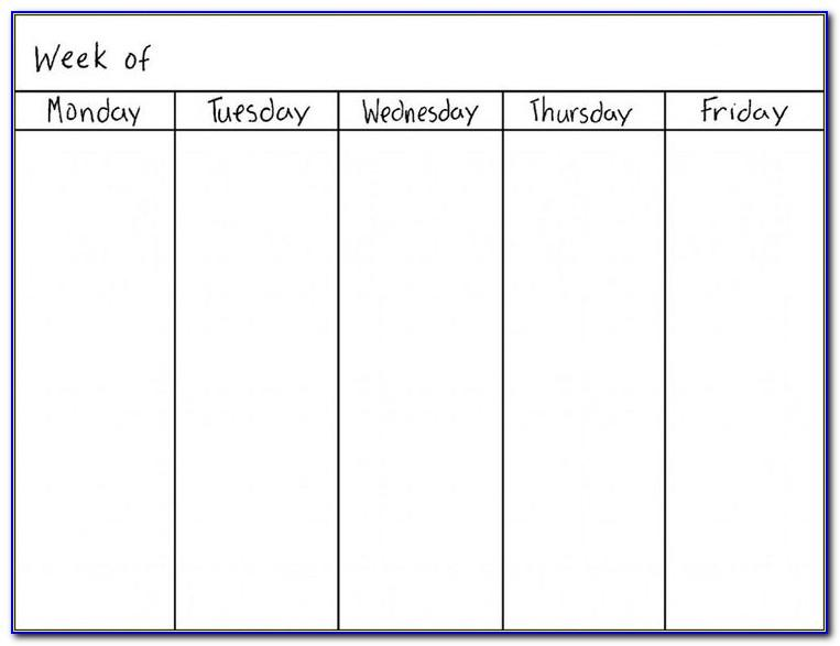 Work Schedule Template Weekly Excel