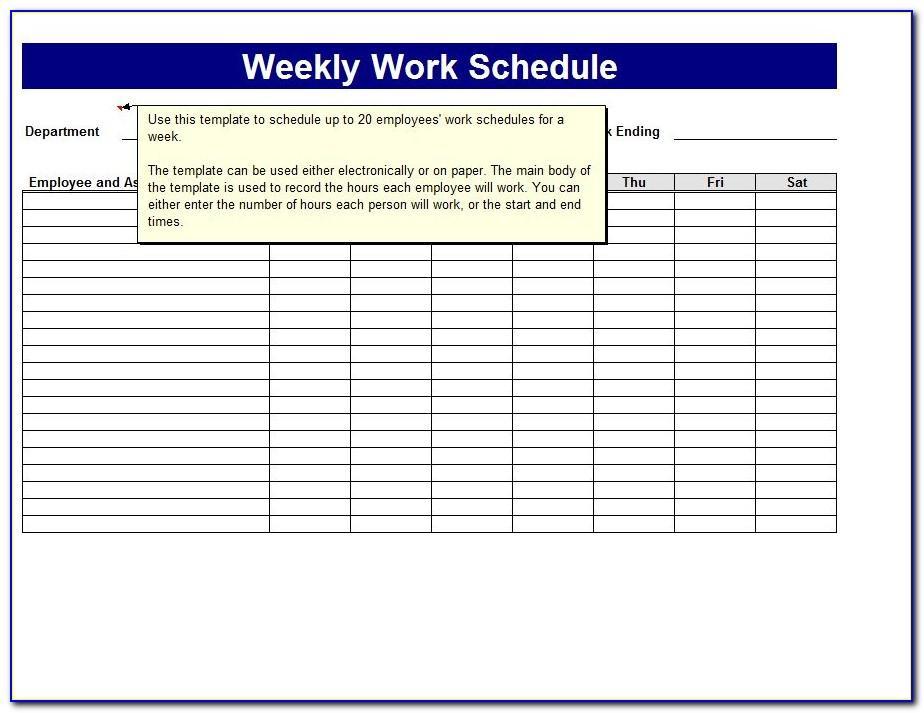 Work Timesheet Excel