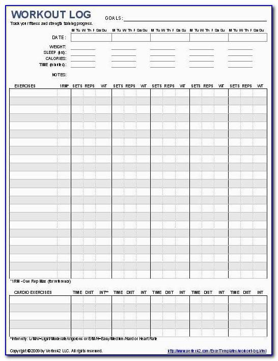Workout Journal Template Covers