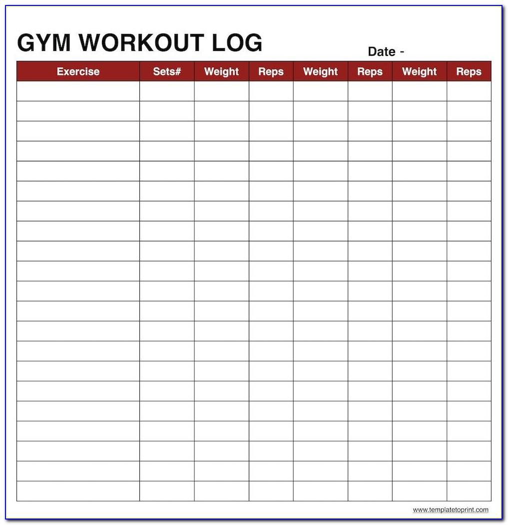 Workout Tracker Template Excel