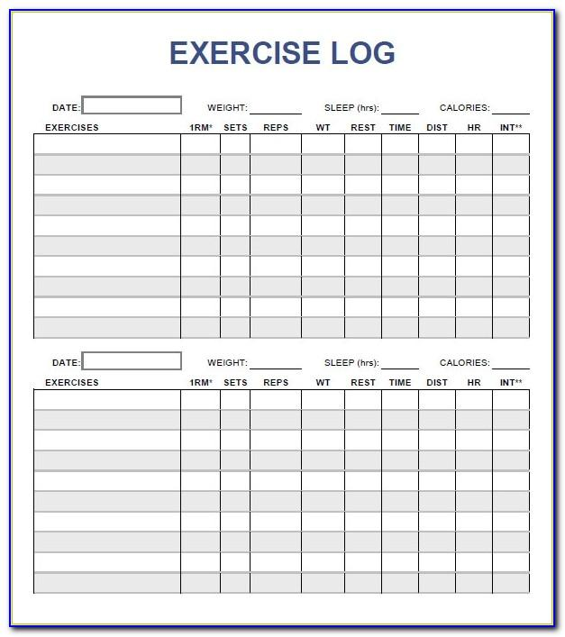 Workout Tracker Template Numbers