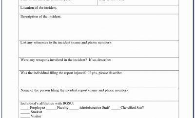 Workplace Accident Report Form Qld