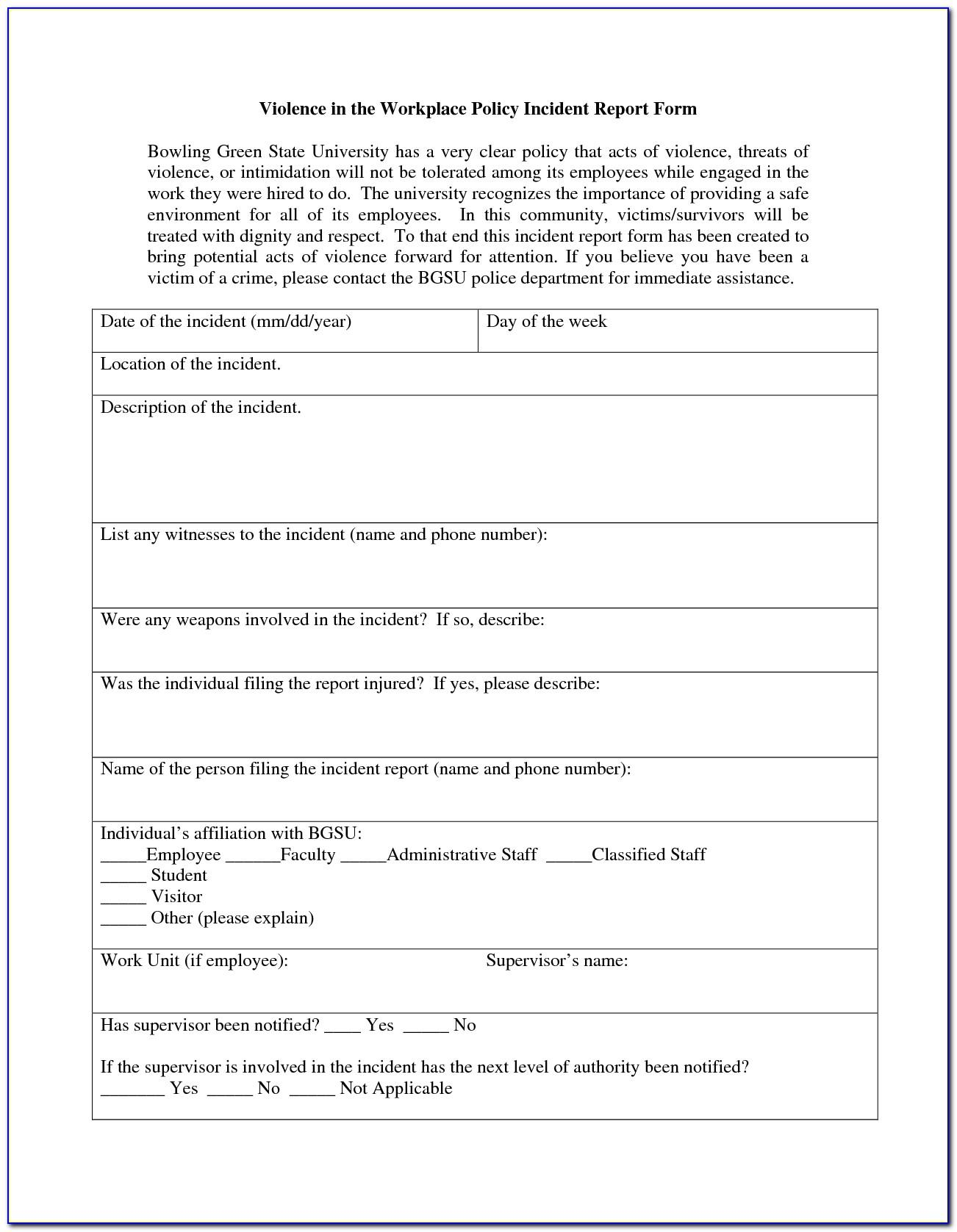 Workplace Safety Audit Form