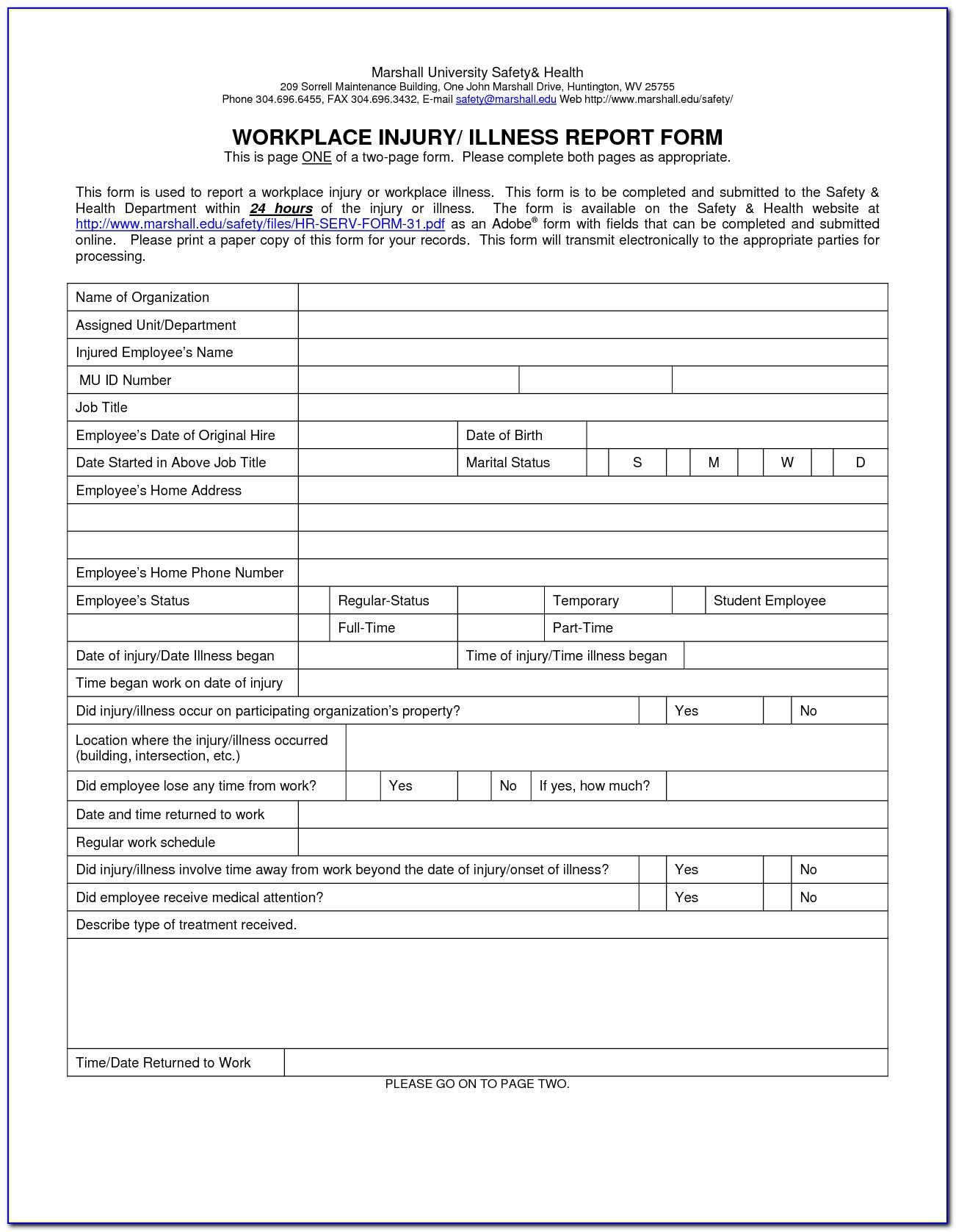 Workplace Safety Inspection Checklist Doc