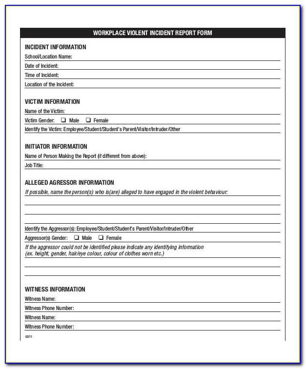 Workplace Safety Inspection Checklist Template Excel