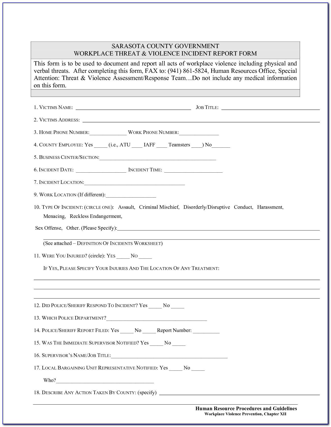 Workplace Safety Inspection Template