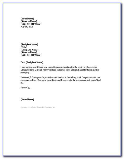 Write Resignation Letter Format