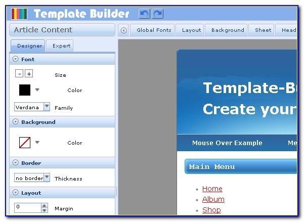 Wysiwyg Web Builder Templates Download Free