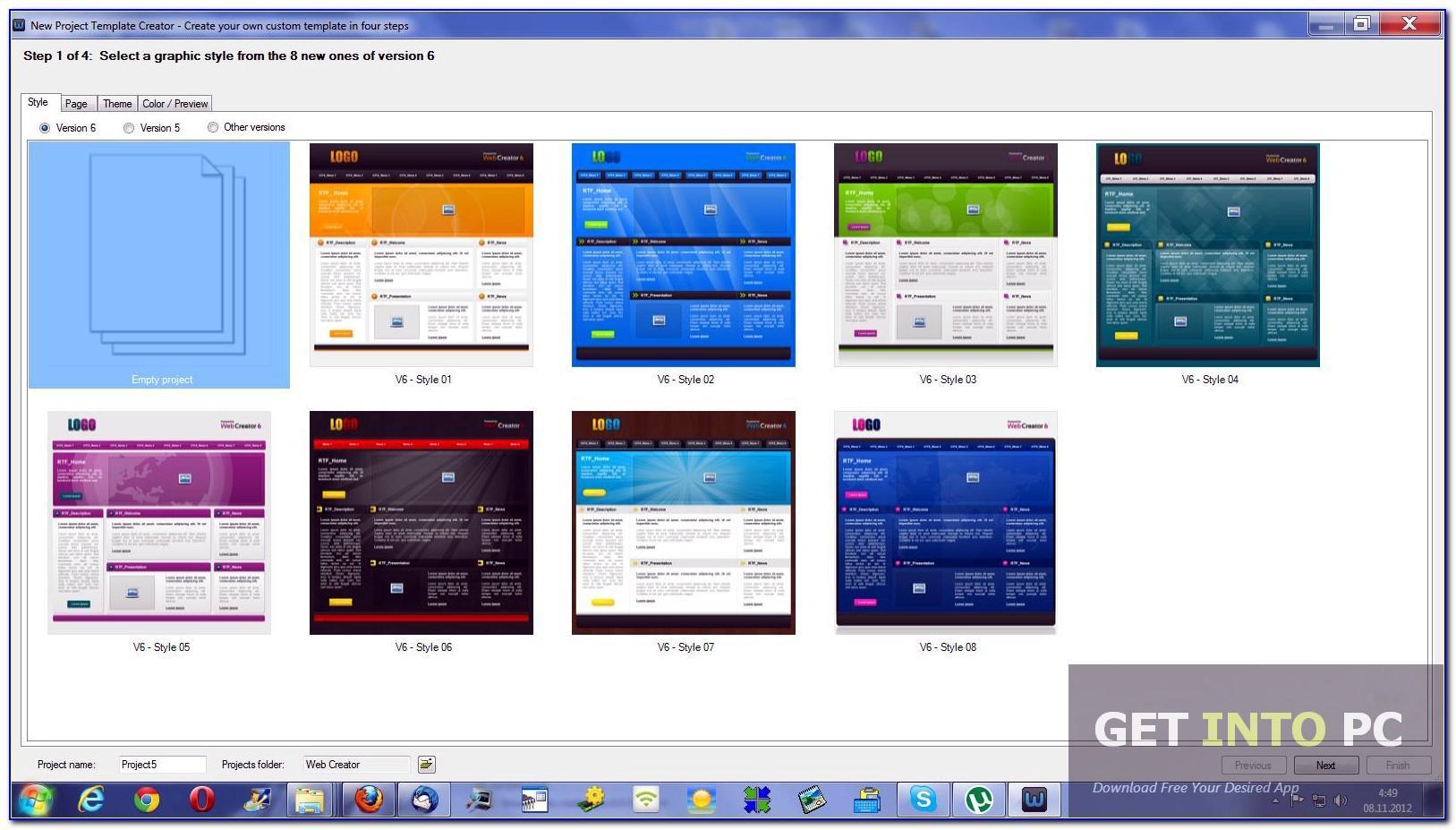 Xara Web Designer Premium Templates Free