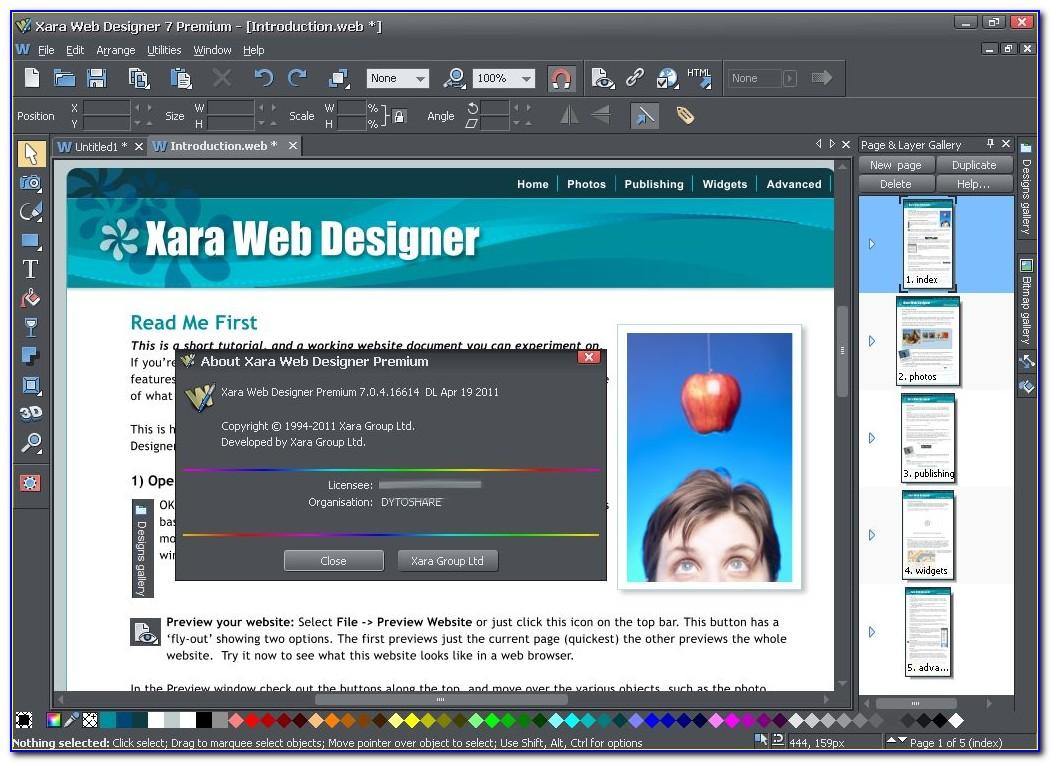 Xara Web Designer Templates Download