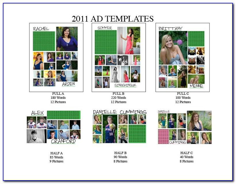 Yearbook Ad Page Templates