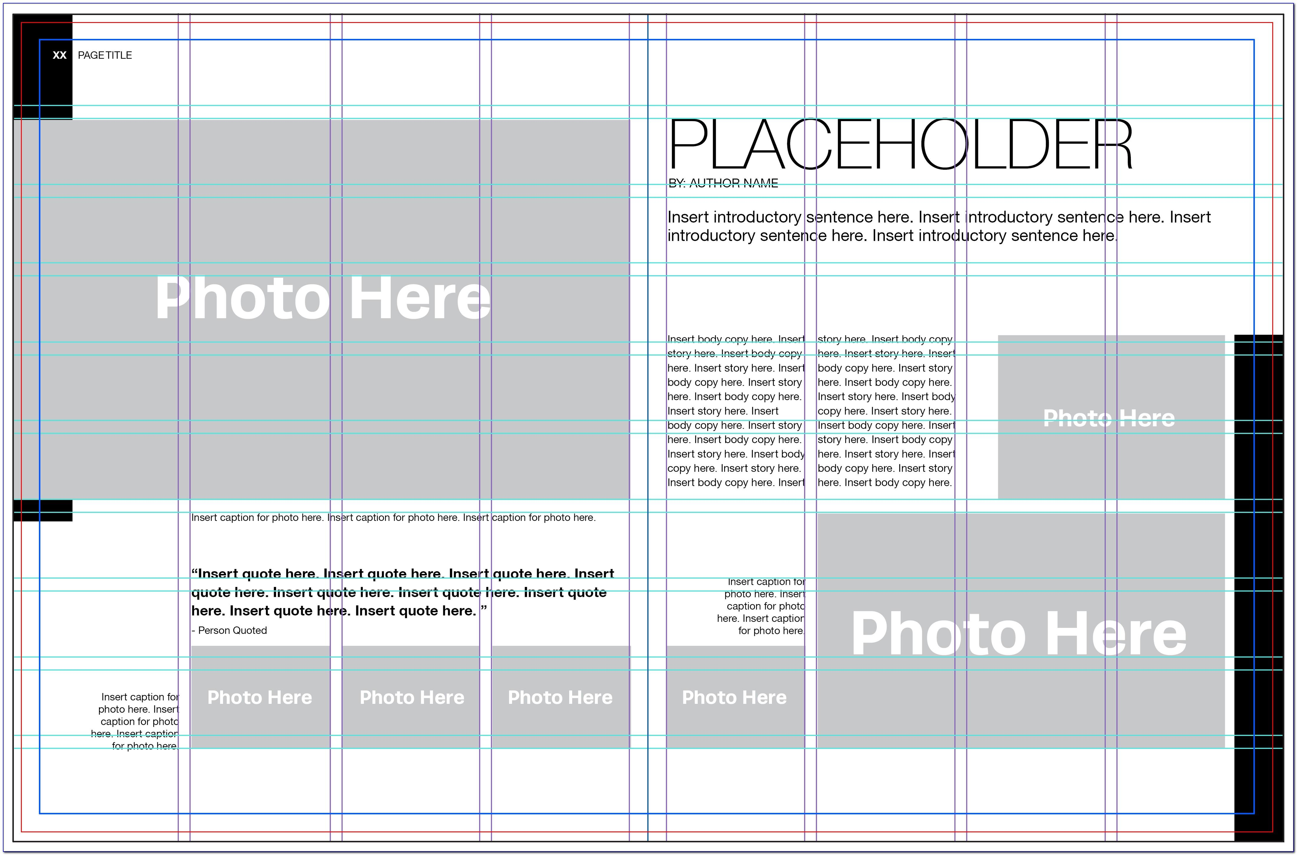 Yearbook Page Layout Template Free