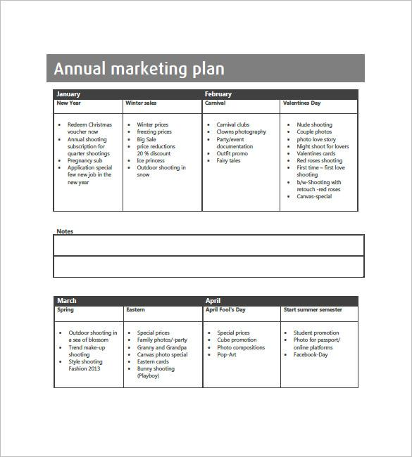 Yearly Business Plan Outline